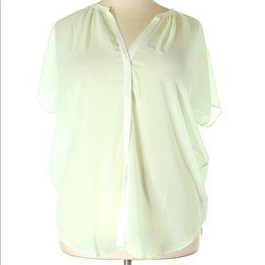 🛍 NWT Banana Republic 🛍 sheer blouse sz XL
